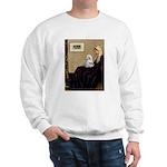 Whistler's Mother Maltese Sweatshirt