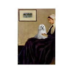 Whistler's Mother Maltese Rectangle Magnet