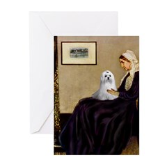 Whistler's Mother Maltese Greeting Cards (Pk of 20
