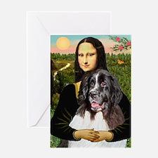 Mona Lisa's Landseer Greeting Card