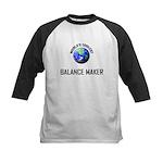 World's Coolest BALANCE MAKER Kids Baseball Jersey