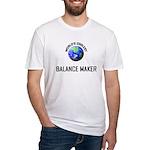 World's Coolest BALANCE MAKER Fitted T-Shirt