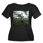 anchor Women's Plus Size Scoop Neck Dark T-Shirt