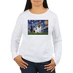 Starry Night / Landseer Women's Long Sleeve T-Shir