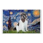 Starry Night / Landseer Sticker (Rectangle)