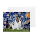 Starry Night / Landseer Greeting Card