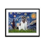Starry Night / Landseer Framed Panel Print