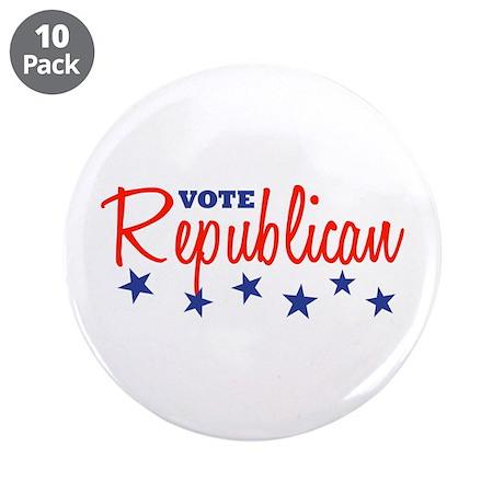 """Vote Republican (Stars) 3.5"""" Button (10 pack)"""