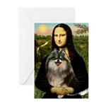 Mona and her Parti Pom Greeting Cards (Pk of 10)