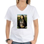 Mona and her Parti Pom Women's V-Neck T-Shirt