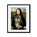 Mona and her Parti Pom Framed Panel Print