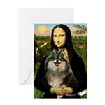 Mona and her Parti Pom Greeting Card