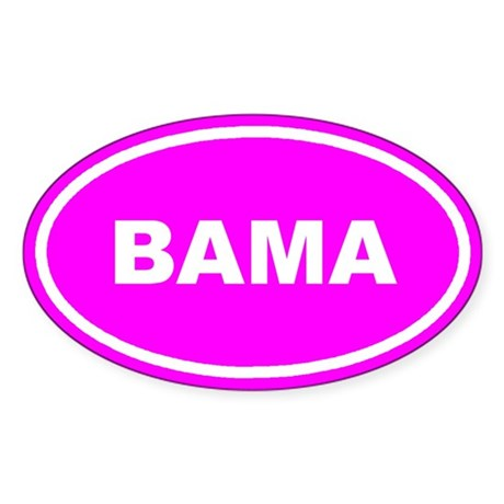 BAMA Alabama Pink Euro Oval Sticker