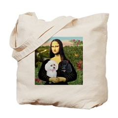 Mona & 2 Poodles Tote Bag