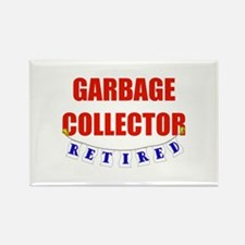 Retired Garbage Collector Rectangle Magnet
