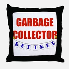 Retired Garbage Collector Throw Pillow