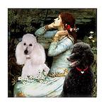Ophelia / Poodle pair Tile Coaster