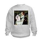 Ophelia / Poodle pair Kids Sweatshirt
