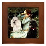 Ophelia / Poodle pair Framed Tile