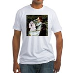 Ophelia / Poodle pair Fitted T-Shirt