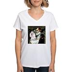 Ophelia / Poodle pair Women's V-Neck T-Shirt