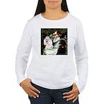 Ophelia / Poodle pair Women's Long Sleeve T-Shirt