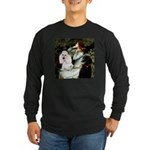Ophelia / Poodle pair Long Sleeve Dark T-Shirt