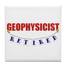 Retired Geophysicist Tile Coaster