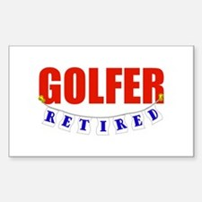 Retired Golfer Rectangle Decal