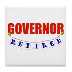 Retired Governor Tile Coaster