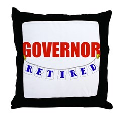 Retired Governor Throw Pillow