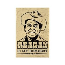 REAGAN Is My Homeboy - Rectangle Magnet