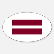 Latvia Oval Decal