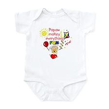 Papaw Fun Girl  Infant Bodysuit