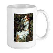 Ophelia (2) & Black Pug Mug