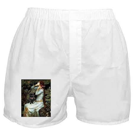 Ophelia (2) & Black Pug Boxer Shorts