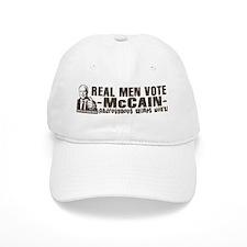 Real men vote McCain Baseball Cap