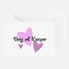 Dog of Honor Greeting Card