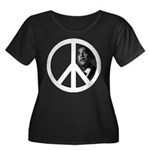 Obama - Peace Sign Women's Plus Size Scoop Neck Da