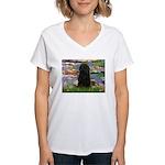 Water Lilies Women's V-Neck T-Shirt