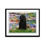 Water Lilies Framed Panel Print