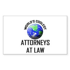 World's Coolest ATTORNEYS AT LAW Sticker (Rectangu