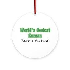 World's Coolest Korean Ornament (Round)
