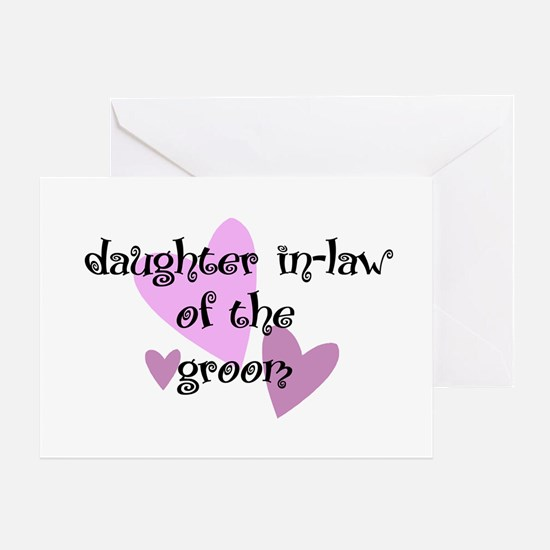 Daughter In-law of the Groom Greeting Card