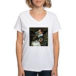Ophelia/Rottweiler Women's V-Neck T-Shirt