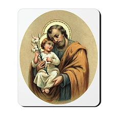St. Joseph and child Jesus Mousepad