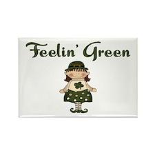 Feeling Green Rectangle Magnet