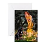 MidEve / Rottweiler Greeting Cards (Pk of 10)