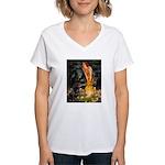 MidEve / Rottweiler Women's V-Neck T-Shirt
