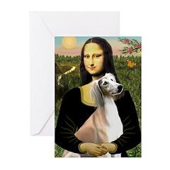 Mona Lisa (new) & Saluki Greeting Cards (Pk of 10)